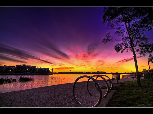 new sunset sky lake colors clouds happy colorful year australia victoria lakeside pakenham ricoparis mywinners aplusphoto nikond300 goldstaraward ric0p pakenhamlakeside