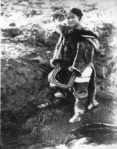 "Nyla, ""Maki"" from ""Nanook of the North"", Inukjuak, QC, about 1920"