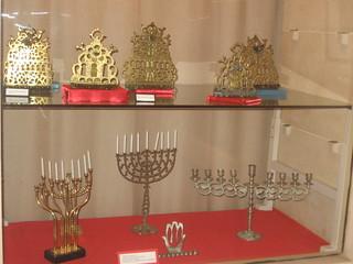 Menorahs, Jewish Museum, Casablanca, Morocco
