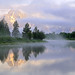 Mt. Moran from Oxbow Bend - Grand Teton by mikebtin