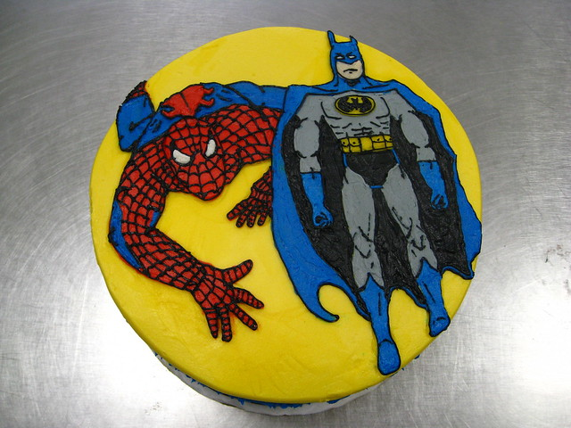 Spiderman and batman cake flickr photo sharing