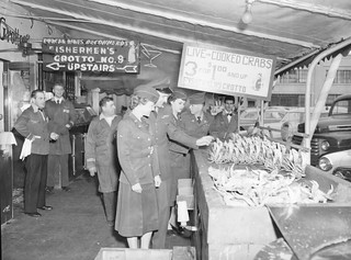 San Francisco, CA WACS at Fisherman's Wharf 1951