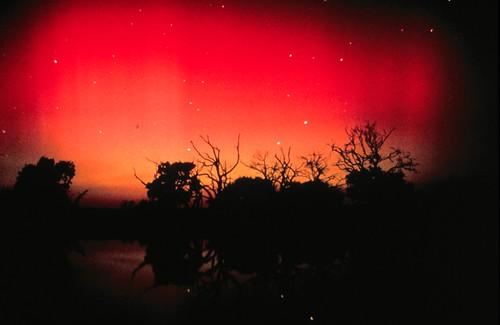 Una aurora roja en Australia