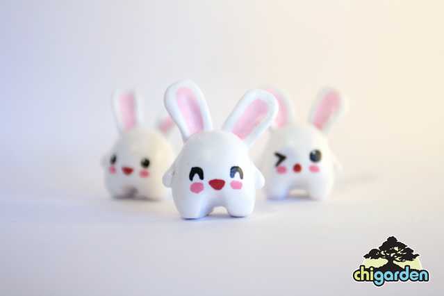 handmade clay bunnies, from a few years ago!