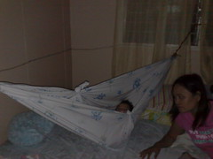 furniture(0.0), wing(0.0), mosquito net(0.0), infant bed(0.0), bed(1.0), hammock(1.0),