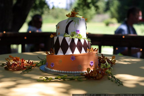 Rachel and Sean's wedding cake