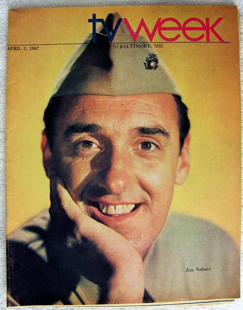 April 2, 1967 JIM NABORS as GOMER PYLE TV WEEK guide (Baltimore) CBS TV