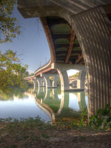 bridge lake water austin texas footbridge tx explore lamar hdr photomatix 3exp cooliris ladybirdlake top20texas bestoftexas