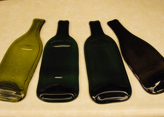 Melted bottles flickr photo sharing - How do you melt glass bottles ...