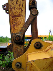 Staging Area - Backhoe - Hydraulic Arm Detail