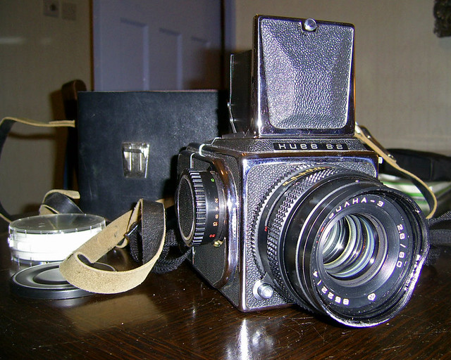 Kiev 88 Camera. My battered old Kiev hasn't been out to play for too
