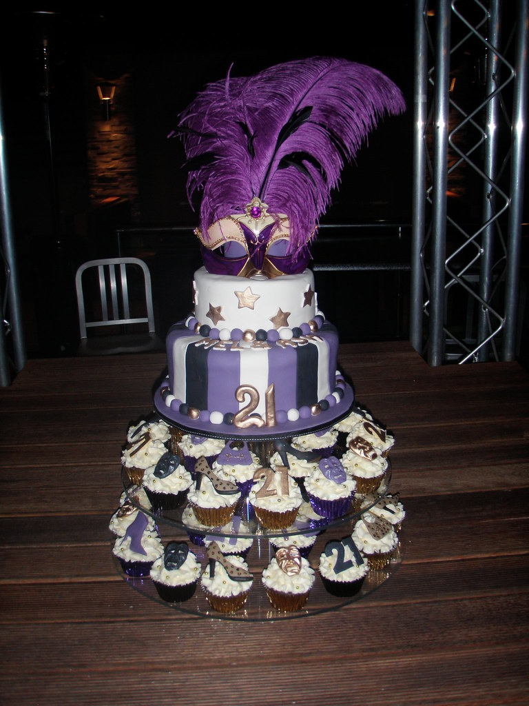 Mossys Masterpiece Mel Ash 21st Birthday Masquerade Cake