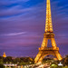 Eiffel Tower Sunset by Joshua Gunther