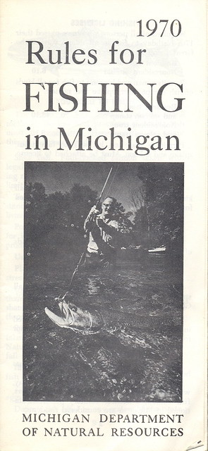 1970 michigan vintage fishing license law digest guide for De fishing license