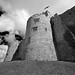 Chirk Castle - Tower - Black and White