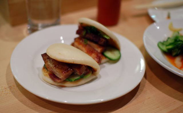 Pork Belly Buns With Spicy Mayo, Scallions, And Pickled Bean Sprouts ...