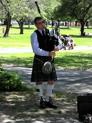 musician, musical instrument, kilt, costume, bagpipes,
