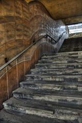 unused stairs blocked off
