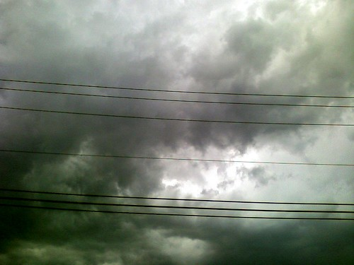 cameraphone sky storm wires thunderstorm takenwhiledriving neougly