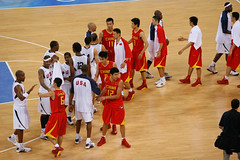 US Wins - Players Shake Hands