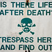 Trespass sign by David Corks
