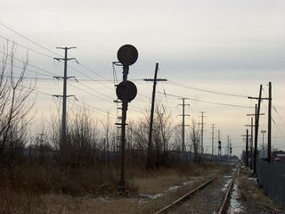 The GTW interchange track at the former Grand Trunk Western Elsdon Yard site. Chicago Illinois. January 2007. by Eddie from Chicago