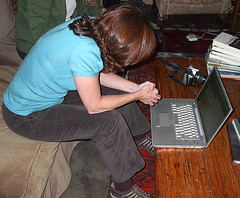 Laura Blankenship and laptop