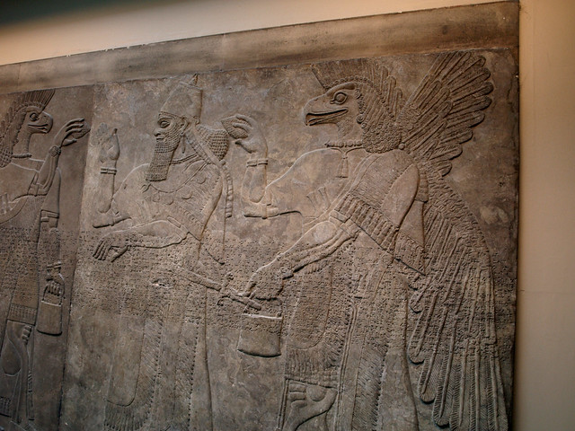 Assyrian relief carving god nisroch and man flickr
