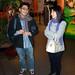 Jun CORDON et une étudiante Coréenne de Rouen discutent après la projection. ©Tonio Vega