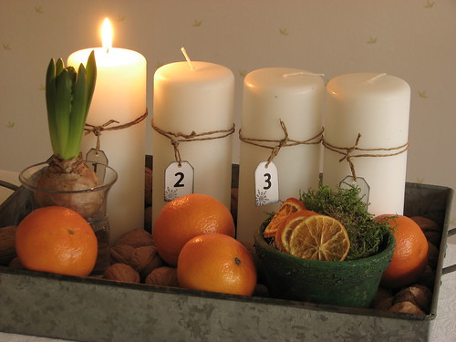 Advent candles 2008