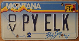 MONTANA 2001 DISABLED VETERAN PERSONALIZED plate