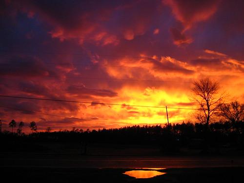 sunset georgia fire vivid savannah