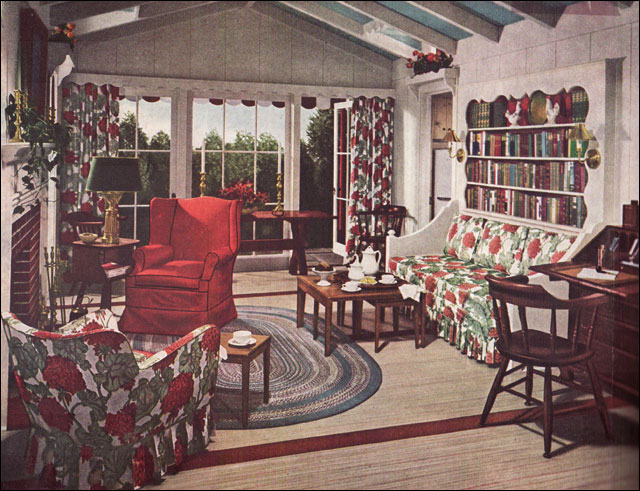 1948 Mid Century Traditional Living Room Early American