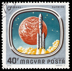 Space Race Postage
