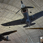 "Steven F. Udvar-Hazy Center: P-40 Warhawk with ""sharktooth"" nose"