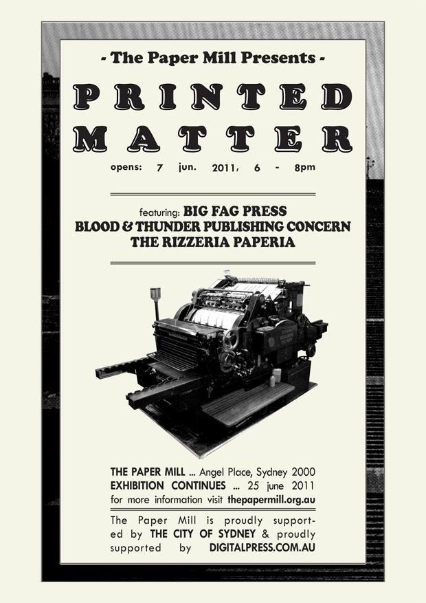 printed matter invitation