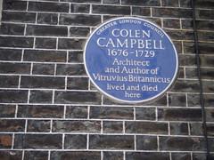 Photo of Colen Campbell blue plaque
