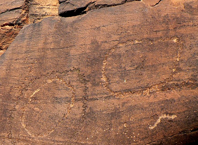 Sacred canyon aboriginal rock carvings the