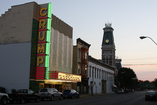 downtown columbus indiana at sunset flickr photo sharing. Black Bedroom Furniture Sets. Home Design Ideas