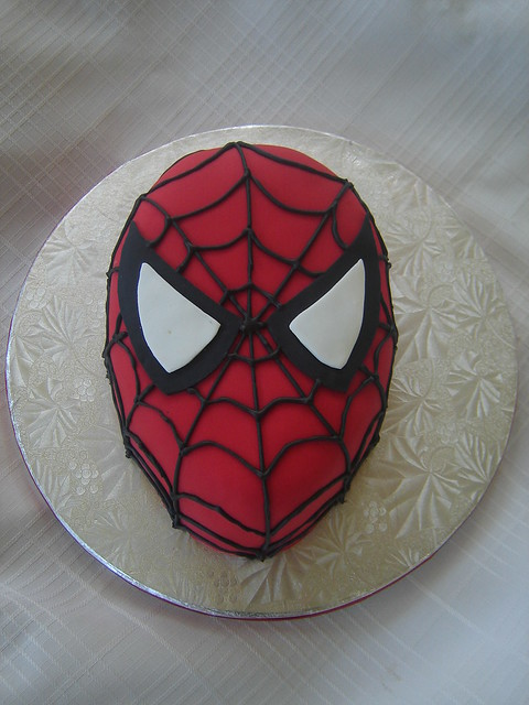 Spiderman cakes a gallery on flickr for Spiderman template for cake