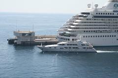 Yacht Leaving Port of Monaco