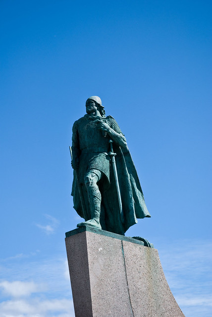 Leif Erikson Statue of Leif Eriksson outside