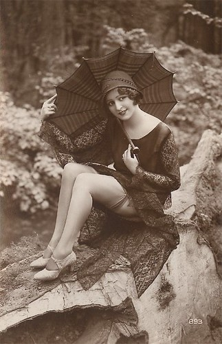 vintage girl with parasol