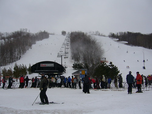 Blue Mountain, Ontario lift crowd