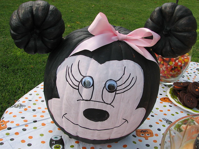 Minnie mouse painted pumpkin explore amy locurto 39 s for How to paint a mickey mouse pumpkin