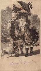 Two Girls and a Doll Carriage