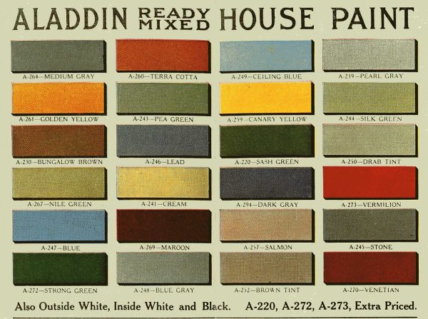 Vintage House Paint Colors Historic Color Palette