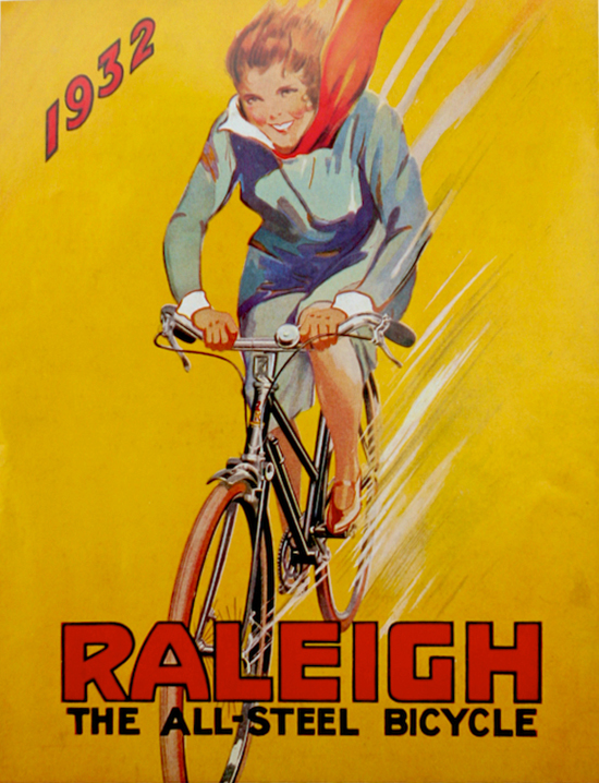 Raleigh bicycle poster 1932
