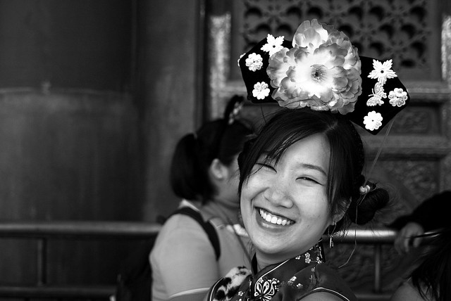 Amatuer Models Beijing 4 BW. She too posed for me!