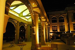 Archway Museum courtyard of Redwood City, California, USA